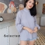เสื้อคอจีนเนื้อผ้าอีดพลีทในตัว thumbnail 1