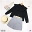 Set 2 ชิ้น เสื้อคอปีนแขนยาว + กางเกงขาสั้นผ้าเดียวกัน thumbnail 6