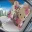 ชุดหุ้มเบาะลาย Hello Kitty แบบเต็มตัวผ้าตาข่าย (ชูมพู) thumbnail 3