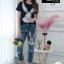 เซตเสื้อเข้าชุดกางเกงยีนส์ขายาวฟอกสีสวยมาก thumbnail 9