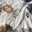 Lace T-Shirt White Sleeve Embroidery Bib Short Gene thumbnail 10