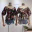เสื้อลายดอกคอวี สวยดอกดูดี thumbnail 2