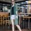 เสื้อคลุมเชิ๊ตผ้าซีทรูเงาหรูโคเรีย thumbnail 2