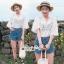 Lace Shirt White Circle Korea Style thumbnail 8