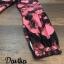 เดรสลายผ้าพิมพ์ดอกกุหลาบสีชมพูสลับสีดำทั้ thumbnail 9