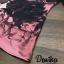 เดรสลายผ้าพิมพ์ดอกกุหลาบสีชมพูสลับสีดำทั้ thumbnail 8