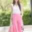 ชุดเซท เสื้อแมทซ์กับกางเกงขาบาน สีชมพูนมเย็น thumbnail 5