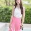 ชุดเซท เสื้อแมทซ์กับกางเกงขาบาน สีชมพูนมเย็น thumbnail 8
