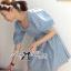 ( พร้อมส่งเสื้อผ้าเกาหลี) เดนิมเบบี้ดอลเดรสพิมพ์ลาย ตัวนี้เหมาะกับสาวหวานลุคคุณหนูมากๆ ทรงชุดออกแนวคุณหนูไฮโซ ช่วงแขนเป็นทรงแขนพองๆ ส่วนเอวจับจีบเข้ารูป กระโปรงพองบานนิดๆ ทั้งตัวใช้ผ้าชิ้นเดียวกัน พิมพ์ลายกราฟฟิกสีขาว เล่น texture ในตัว thumbnail 3