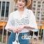 Lace Shirt White Circle Korea Style thumbnail 4
