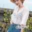 Lace Shirt White Circle Korea Style thumbnail 2