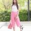 ชุดเซท เสื้อแมทซ์กับกางเกงขาบาน สีชมพูนมเย็น thumbnail 3