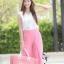 ชุดเซท เสื้อแมทซ์กับกางเกงขาบาน สีชมพูนมเย็น thumbnail 4