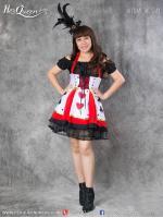 เช่าชุดแฟนซี &#x2665 ชุดแฟนซี ชุดราชินีไพ่ ควีน จากเรื่อง Alice in Wonderland