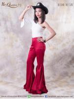 เช่าแฟนซี &#x2665 ชุดแฟนซี คาวบอยกางเกงขาม้า พร้อมหมวก - สีแดงเลือดหมู