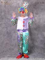เช่าชุดแฟนซี &#x2665 ชุดแฟนซี ชุดตัวตลกสีฟ้าลายจุด