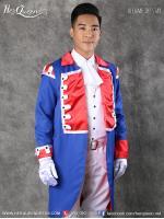 เช่าชุดแฟนซี &#x2665 ชุดเจ้าชายทักซิโด้ ยุโรป น้ำเงินแดง กางเกงสามส่วน