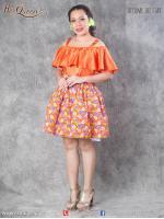 &#x2665 ชุดแฟนซี ชุดย้อนยุค ทองกวาว สีส้ม