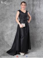 เช่าชุดราตรี &#x2665 ชุดราตรียาว ด้านหลังแต่งผ้าหางยาว ใส่ได้สองแบบ สีดำ