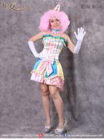เช่าชุดแฟนซี &#x2665 ชุดแฟนซี ชุดโบโซ่หญิง ตัวตลก สีพาสเทลหวาน
