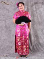 เช่าชุดราตรี &#x2665 ชุดกี่เพ้า จีน ไซส์ใหญ่ ผ้าไหมจีน สีบานเย็น ไซส์ 4XL