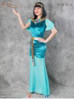 &#x2665 ชุดแฟนซี ชุดคลีโอพัตรา สีฟ้า ทอง