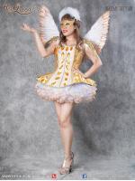 เช่าชุดแฟนซี &#x2665 ชุดแฟนซี ชุดการแสดง สีทอง นางฟ้า ชุดโชว์ นักร้อง หางเครื่อง
