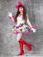 เช่าชุดแฟนซี &#x2665 ชุดแฟนซี ชุดโบว์สีลูกกวาด สดใส หางเครื่อง ชุดโชว์ นักร้อง