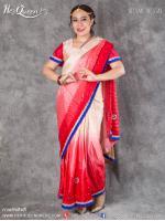 เช่าชุดแฟนซี &#x2665 ชุดแฟนซี ชุดอินเดีย ชุดแขก ส่าหรี - ไซส์ใหญ่ ไล่โทน สีแดง