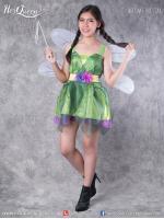 เช่าชุดแฟนซี &#x2665 ชุดแฟนซี ทิงเกอเบล แฟรี่ นางฟ้า สีเขียวผ้าแก้ว