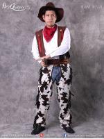 เช่าชุดแฟนซี &#x2665 ชุดคาวบอย กางเกงลายวัว