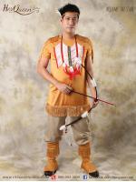 เช่าชุดแฟนซี &#x2665 ชุดแฟนซี ผู้ชาย ชุดอินเดียแดง - สีน้ำตาล