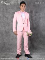 เช่าชุดแฟนซี &#x2665 ชุดสูท พร้อมเสื้อกั๊ก สุภาพบุรุษจุฑาเทพ - สีชมพู
