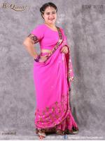 เช่าชุดแฟนซี &#x2665 ชุดแฟนซี ชุดอินเดีย ชุดแขก ส่าหรี สีชมพูบานเย็น ปักดิ้นทอง