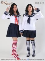เช่าชุดแฟนซี &#x2665 ชุดแฟนซี นักเรียนญี่ปุ่นแขนยาว ผ้าพันคอแดงและผ้าพันคอน้ำเงิน