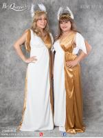 เช่าแฟนซี &#x2665 ชุดแฟนซี ชุดกรีก ผู้หญิง สีขาว-ทอง พร้อมเครื่องประดับ