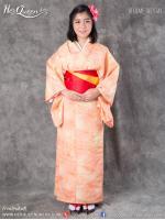 เช่าชุดแฟนซี &#x2665 ชุดญี่ปุ่น กิโมโน สีโทนส้มหวานๆ