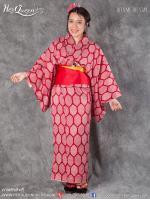 เช่าชุดแฟนซี &#x2665 ชุดญี่ปุ่น กิโมโน สีแดงเข้ม