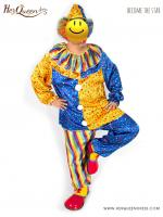 &#x2724 เช่าชุดแฟนซี ชุดตัวตลกโบโซ่ เหลืองน้ำเงิน เซ็ทใหญ่