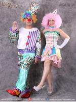 เช่าชุดแฟนซี &#x2665 ชุดแฟนซี ชุดคู่ ตัวตลกโบโซ่ เซ็ทสีหวาน