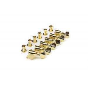 ลูกบิดกีต้าร์ ทางเดียว สีทอง/ 6 in-line tuners