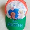หมวก ลายปัก เจ้าหญิง Frozen สีส้ม-เขียว