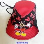 หมวก ทรง คาวบอย ลาย มิกกี้เมาส์ สีดำ