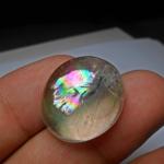 แก้วประกายรุ้ง รุ้งสวย น้าใส ขนาด 2.3*1.8cm ทำ แหวน จี้
