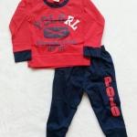 carter's : set เสื้อแขนยาว+ขายาว RL (แขนขาจั๊ม) สีแดง Size : 1T (9-18m) / 3T (2-2.5y)