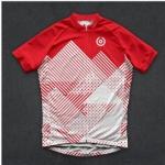 เสื้อจักรยานแขนสั้นทีม TWINSIX 16 (39) สีแดงภูเขาสีขาว