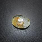 แก้วเข้าแก้วสีทอง+กาบ น้ำใสสะอาด ขนาด 2.2*1.5 cm ทำแหวนงามๆ