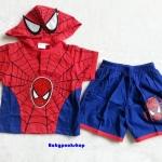 MARVEL : set เสื้อ + กางเกง spider man มีไฟ ตรงรูป หน้า
