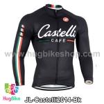 เสื้อจักรยานแขนยาวทีม Castelli 14 สีดำ สั่งจอง (Pre-order)