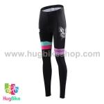 กางเกงจักรยานผู้หญิงขายาว CheJi 15 (05) สีชมพูดำฟ้าลายผีเสื้อ